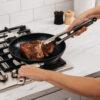 R_C10026_InUse_FryPan_Steak_Woman